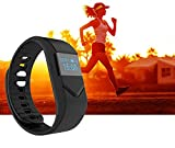 Braccialetto Fitness,CAMTOA Sport Bluetooth 4.0 OLED Display Fitness Tracker/IP54 Impermeabile Smart...