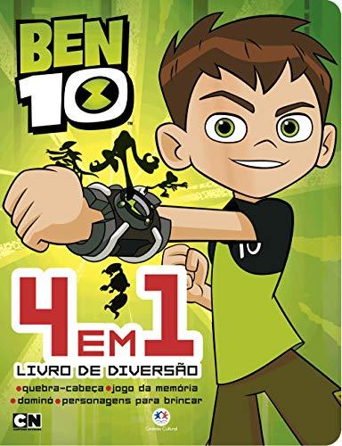 Ben 10 - 4 em 1 - Livro de diversão