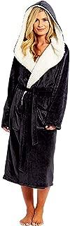 Robe Coat, Winter Plush Lengthened Shawl Bathrobe Home Long Sleeved Clothes