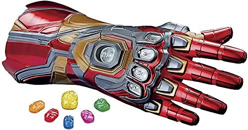 Marvel Legends Series - Nano Guante articulado electrónico de Iron Man con Luces, Sonidos de película y Gemas del Infinito Desmontables