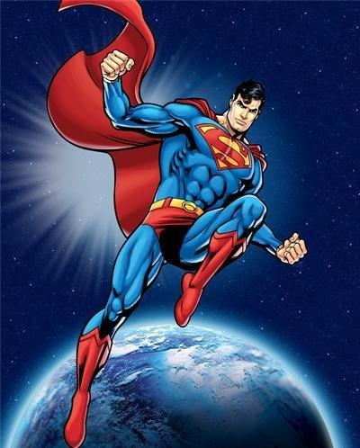 Anti-Pill Superman in Space Fleece Panel 244
