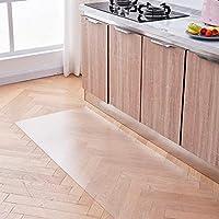 キッチンマット 床保護マット 厚さ1.5mm 透明 PVC キズ防止 凹み防止 床保護シート 滑り止め ずれない 椅子/冷蔵庫/洗濯機/食卓/オフィス