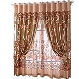 Guangcailun Edal romántica floral moderna Peony de tul de la sala de cortinas de ventana cenefas