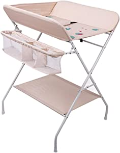 Baby Changing Diaper Station  Multi Storage Care Station for Girl Boy Baby with Bottom Shelf  80x66x100cm  color Style1
