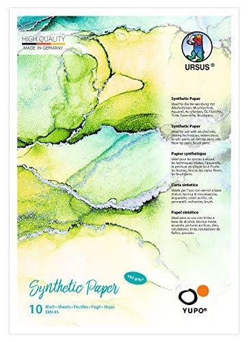 Ursus 16279200 Yupo Synthetic Paper transparent, DIN A5, 10 Blatt, 192 g/qm, synthetisch, glatte Oberfläche, reiß-und wasserfest, UV lichtecht, extrem strapazierfähig, 100% recyclebar
