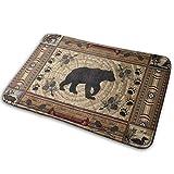 Deer Bear Moose Memory Foam Bath Mat Non Slip Ultra Absorbent Bathroom Rug Carpet, 15.7