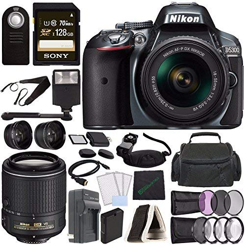 Learn More About Nikon D5300 DSLR Camera with 18-55mm Lens (Grey) + Nikon AF-S DX NIKKOR 55-200mm f/...
