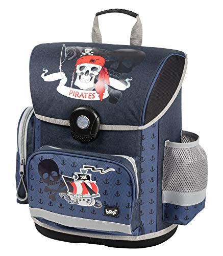 Baagl Schulranzen Jungen 1. Klasse - Ergonomische Schultasche für Kinder - Grundschule Ranzen - Schulrucksack mit Brustgurt