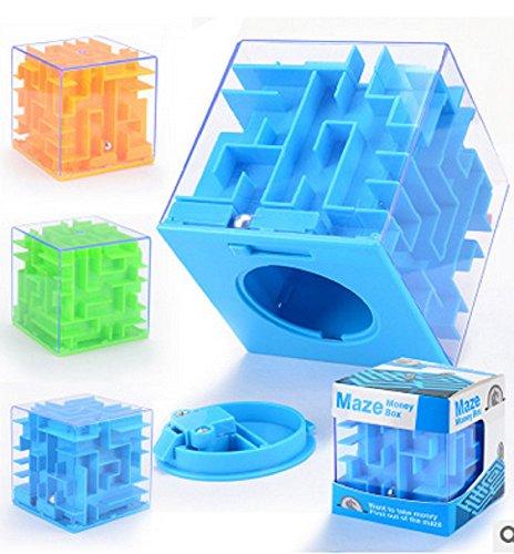 QYL labydh spaarvarken stereo Maze Ball Intelligent speelgoed 3D rollerball geld bank 3 stuks kleur willekeurig