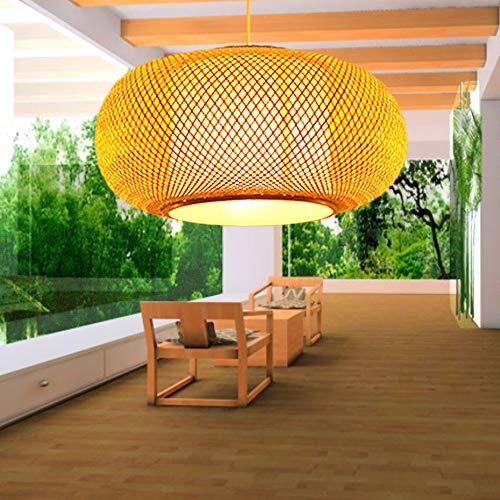 lampadario soggiorno bambù CQLAN Bamboo Art Handmade lampadario Moderno Tessuto a Mano di bambù Lampada Soggiorno Camera da Letto Cafe Bar Lampada a Sospensione E27