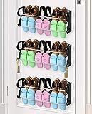 Hanging Shoe Organizer, 3 Pack Shoe Rack Organizer Over The Door or On The Wall Hanging Shoe Rack with Hooks for Closet, Entryway,Kitchen (3 PACK LARGE)