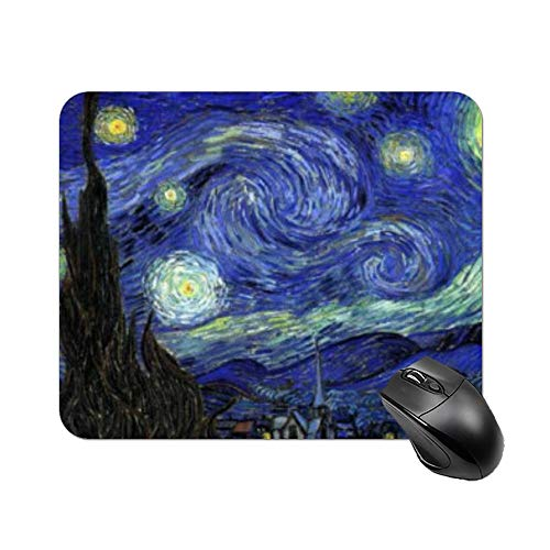 """Yilooom The Starry Night Wrist Support Gel Mousepad Rectangle Non Slip Rubber Mousepad Gaming Mouse Pad 9""""x7"""""""