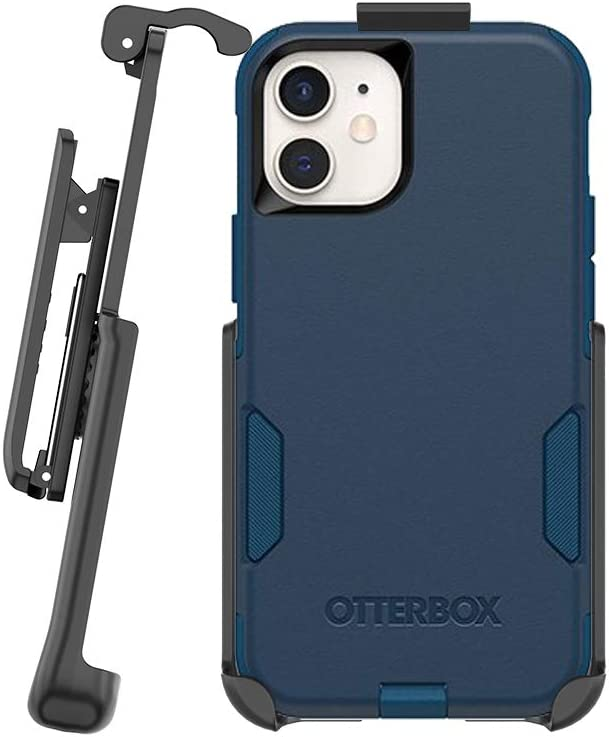 BELTRON Belt Clip Holster for Commuter Series Case iPhone 12 Mini (Case NOT Included, Belt Clip ONLY) Features: Secure Fit, Quick Release Latch & Built-in Kickstand