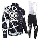BXIO - Maillot de ciclismo de invierno Pro Racing - Ropa de bicicleta de manga larga para otoño - Uniformes de ciclismo deportivos para hombre, 080