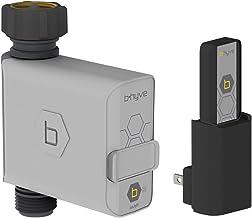 S&M Orbit B-Hyve 94990-Programador Inteligente de riego con Enchufe Wi-Fi para Grifo de Manguera, Gris