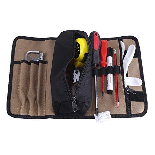 Tragbare Oxford Werkzeugtasche, 36x25cm wasserdichtes Tuch Roll Up Hardware Werkzeugtaschen 600D Werkzeugorganisatoren für Elektriker