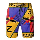 Jebnpse 3rd Armored Division Man Leisure Funny Summer Beach Pants,Men's Beach Shorts Quick Dry Summer Surfing Trunks Surf Board Shorts Beach Pants with Pockets for Men Large