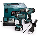 Makita DLX2145TJ Combi Drill and Impact Driver 18 V Kit with 2 x