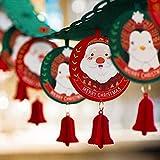 YJLT Escultura Figuras Estatuas Decoracion 2 Piezas Decoraciones Navideñas, Colgante De Flores, Escena Navideña, Decoración Colgante