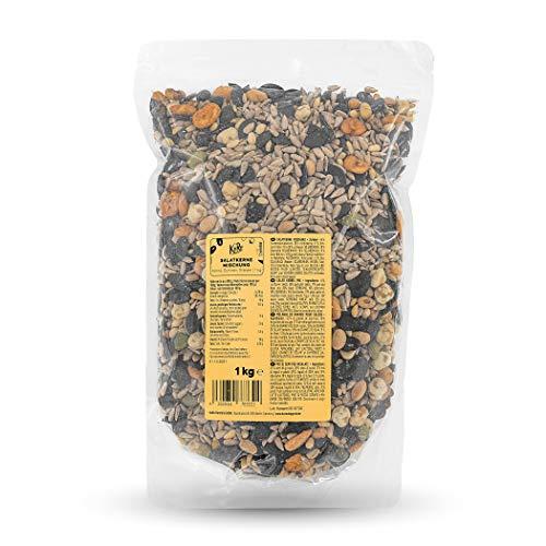 KoRo - Salatkerne Mischung - 1 kg - abwechslungsreicher Mix mit Edamame, Bohnen und Pinienkernen - reich an ungesättigten Fettsäuren - Eiweißquelle - Großpackung zum Vorteilspreis