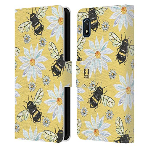 Head Case Designs Bees Watercolour Insects Leather Book Wallet Case Cover Compatible with Samsung Galaxy A10e (2019)