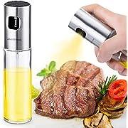AMBOTHER Oil Sprayer Ölsprüher Öl Zerstäuber Essig Spender Glasflasche Küche Werkzeug für Pasta/BBQ / Salate/Kochen / Backen/Grillen 100ml