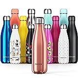 Proworks Botellas de Agua Deportiva de Acero Inoxidable | Cantimplora Termo con Doble Aislamiento para 12 Horas de Bebida Caliente y 24 Horas de Bebida Fría - Libre de BPA - 750ml – Cobre