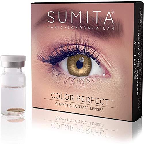 SUMITA Color Perfect (avellana), Lentes de contacto de color, lentes de contacto mensuales, suaves, vida útil de 1 mes, proteja sus ojos de los rayos UV, sin receta, hecho en Corea, diseño italiano