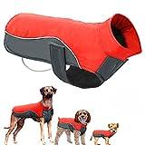 POPETPOP Chaqueta de Invierno para Perros Chaqueta de Lana Impermeable para Mascotas Parka Abrigo cálido Ropa para Perros para Perros pequeños Tamaño del Perrito S (Rojo)