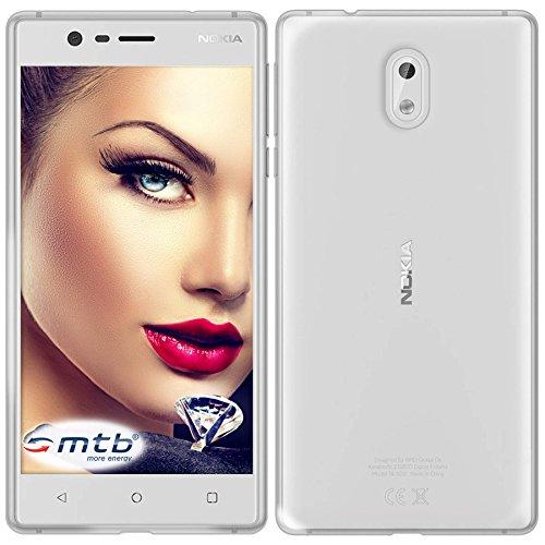mtb more energy® Schutz-Hülle Clear und Slim für Nokia 3 (5.0'') - transparent - flexibel - TPU Hülle Schutz Hülle Tasche