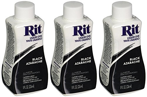 RIT染料液体织物染料,黑色8盎司(3包)