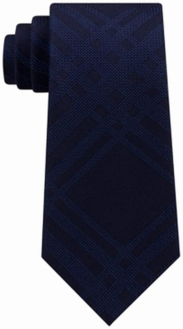 Kenneth Cole Mens Texture Ranking TOP17 Grid Beauty products Necktie Size Self-tied Blue One