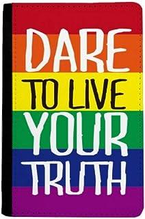 beatChong Vivir Su Verdad LGBT Monedero De La Tarjeta Caso De La Cubierta Cartera De Viaje De Pasaporte Bandera del Arco Iris