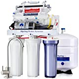 iSpring RCC1UP-AK 100GPD High Capacity, Boosted Performance Under Sink 7-Stage Reverse Osmosis Drinking Water Filtration System and Ultimate Water Softener with Alkaline Remineralization, and Pump