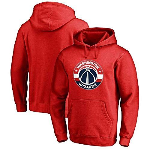 Li Long Sudadera con Capucha for Hombre NBA Washington Wizards Fan Jersey Camiseta de Manga Larga Impreso con Capucha Top Casual Sudadera cómoda Rojo-2-L (Color : 2, Size : XXL)