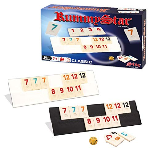 RummyStar Classic- Rummy, Romme aus Kunststoff, Okey Set