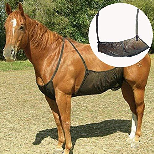 HilMe Pferd Fliegendecken, Pferd Bauchmuskeln Decken Elastizität Anti-moskito Netz für Außen, Verstellbar Überdach Netz Bauch Schutz Schutz Abdeckung - Wie abgebildet, Einheitsgröße