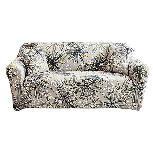 HOTNIU 1 Piece Printed Stretch Sofa Slipcover Non Slip Soft Couch Sofa Cover Washable Furniture Protector Sofa Cover with 1 Pillowcase for Armchair Loveseat Couch Sofa (Large, Xinxiangyuan)