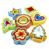 Cookie Cutter Shapes Set, Biscuit Cake Vegetable Cutting Mold, Food Cutter for Kids & Adults (Set of 35)