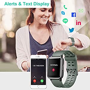Willful Smart Watch for Android Phones Compatible iPhone Samsung IP68 Swimming Waterproof Smartwatch Sports Watch Fitness Tracker Heart Rate Monitor Digital Watch Smart Watches for Men Women (Green)