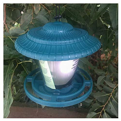 no brand Hibeilinq Mangeoires for Animaux Hanging imperméable à l'eau for Le Jardin Yard House Outdoor Hanging Parrot Mangeoire Vent et la Pluie Résister Chargeur Chien (Color : Blue)