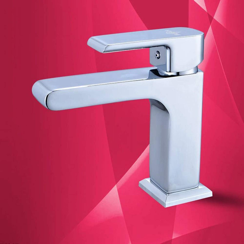 Fine Copper Hot and Cold Basin Faucet Pedestal Single Hole Wash Basin Faucet