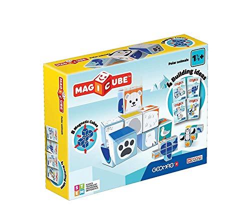 Geomag- Magicube Juguete de construcción, Multicolor, 8 Piezas (134) , color/modelo surtido