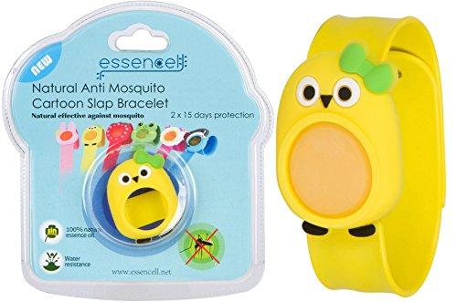 Essencell Cartoon Natural Mosquito Repellent Slap Bracelet + 2x FREE Repellent Refills - [No Spray, DEET-FREE, Waterproof] Best Pest Control Repellent Products for Kids - Bird