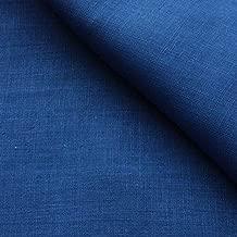ハンドメイド用生地 150cm巾 リネン100% 無地 ブルー 普通地 KSK-ブルー