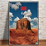 N / A Travis Scott Astroworld Rodeo Days Rap Music Album Star Poster Prints Art Canvas Painting Wall Pictures Living Room Home Decor60x75cm