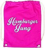 EZYshirt® Hamburger Jung Baumwoll Stoffbeutel
