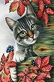Kits de Bordado de Punto de Cruz 14CT Lazy Lovely Cat Cotton Thread Painting DIY Needlework DMC Año Nuevo decoración del hogar