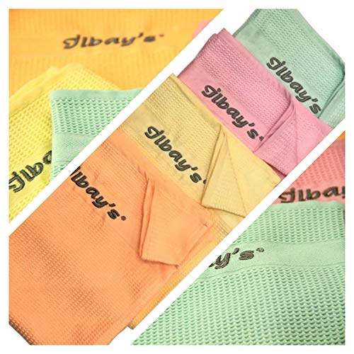 Ilbays Putztücher 4x Stück |Gelb Orange Grün Pink