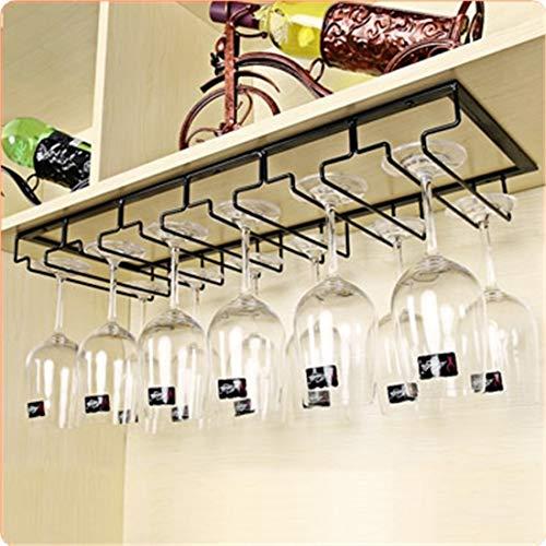 ZUJI Gläserhalter zum Aufhängen Weinglashalter Weinglashalterung mit Schrauben, 6 Reihen, für 12-18 Gläser